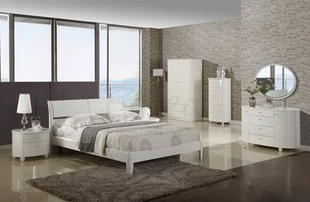 Home Design Ideas Elite White High Gloss Bedroom Furniture Set