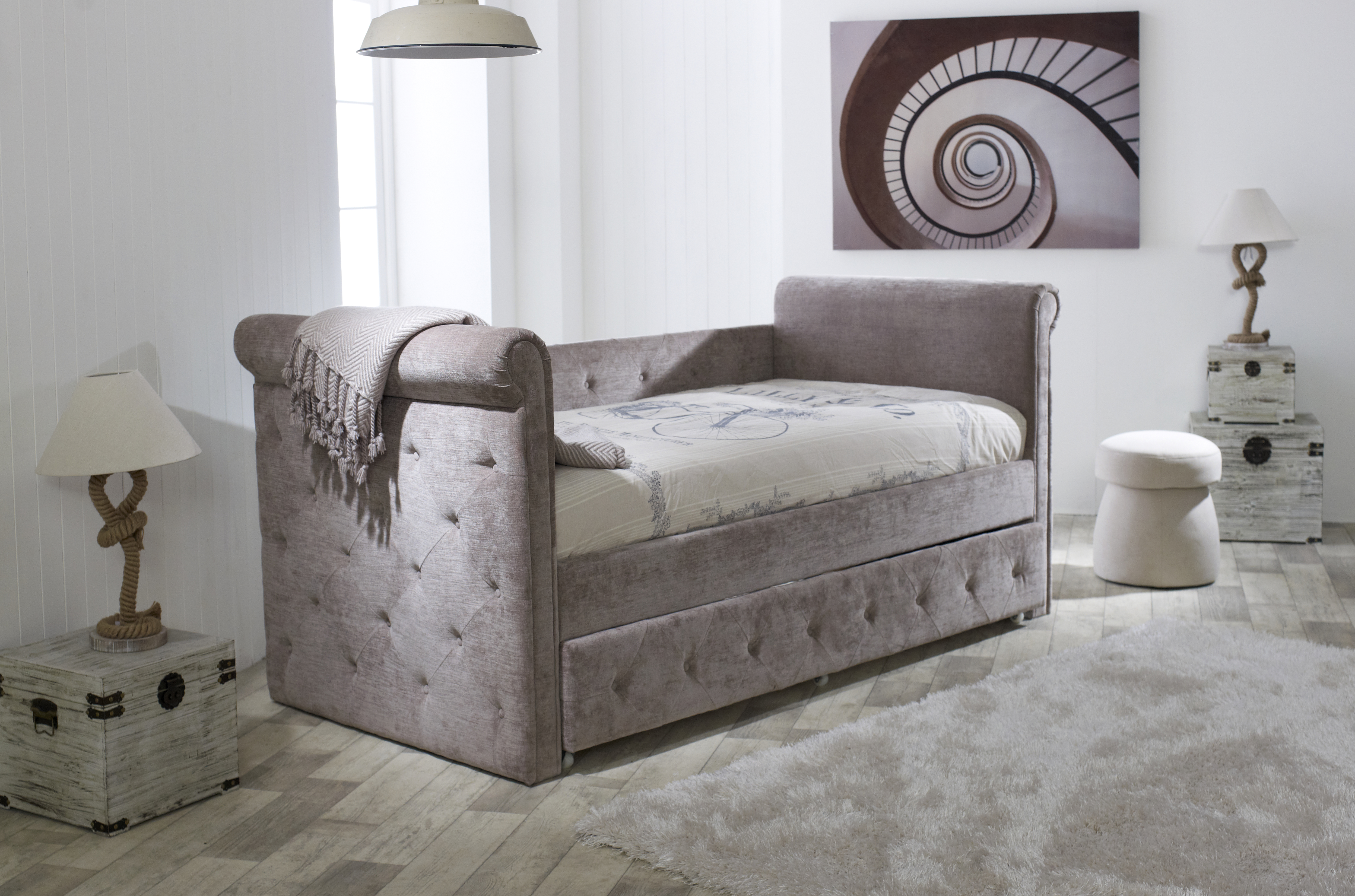 Zodiac Day Bed Trundle Mink