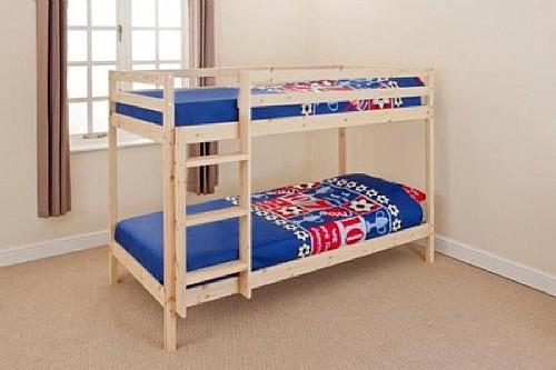Shorty Bunk Bed Natural Pine Bdbz