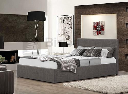 Berlin Fabric Ottoman Bed Frame (Grey) - Birlea Furniture - Beds For Everyone: OTTOMAN STORAGE