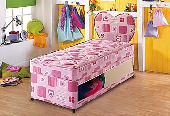 Beta junior size single size divan bed airsprung beds for Junior divan bed