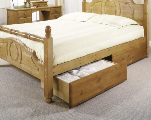 storage drawer bed accessories bedroom shop oak conti oakline furniture drawers under hasena solid distressed underbed
