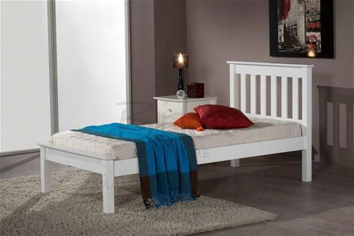 Denver Single Low Foot End Bed Frame Ivory Birlea