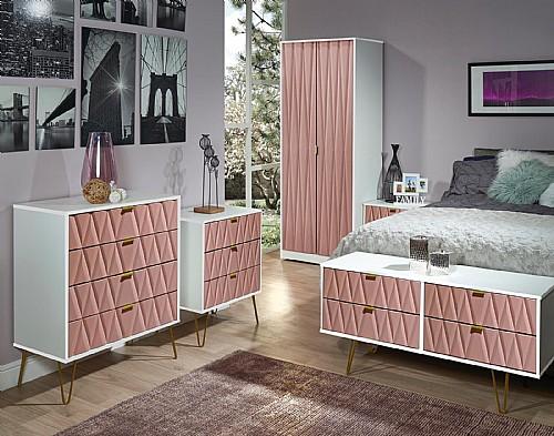 diamond bedroom furniture in kobe pink