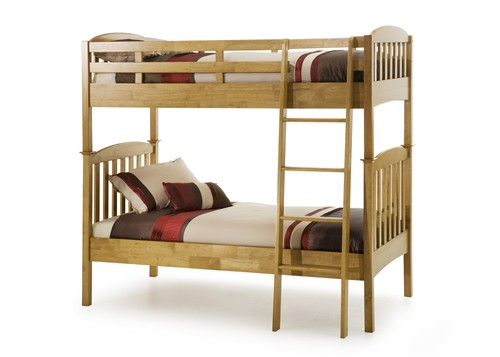 Eleanor Bunk Bed (Hevea Wood - Honey Oak) - Serene