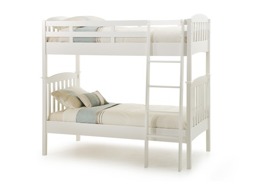 Eleanor Bunk Bed (Hevea Wood - Opal White) - Serene