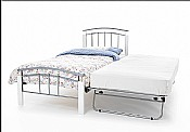 Tetras 3ft Guest Bed (White/Silver) - Serene Furnishings