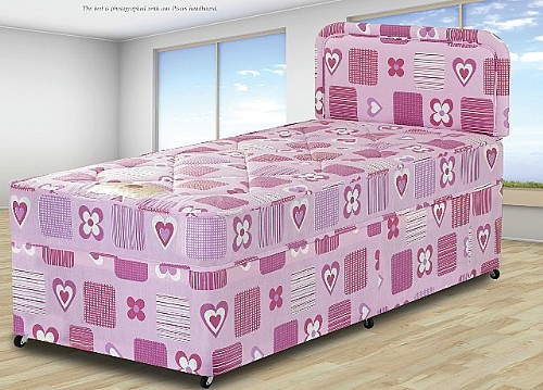 hearts junior divan bed sweet dreams