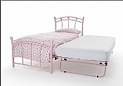 Jemima 2ft6 & 3ft Guest Bed (Pink Gloss) - Serene Furnishings