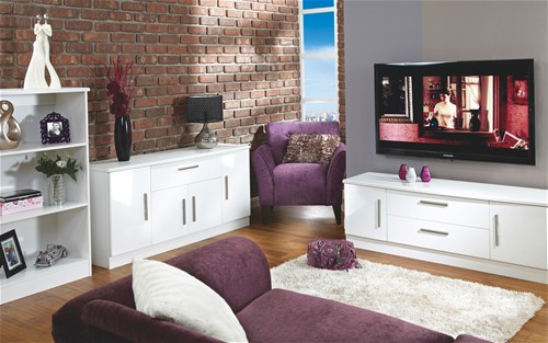 Living Room Range White High Gloss More Options