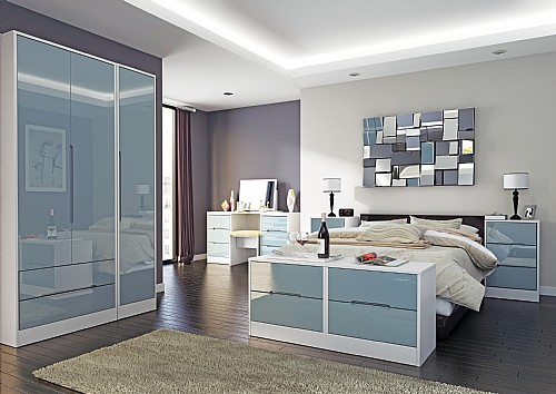 Monaco Grey Gloss Bedroom Range 14 Colour Combinations