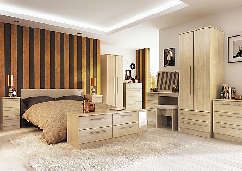 Maple) Bedroom Range - Welcome Furniture