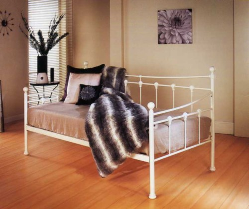 Sirus 3ft Day bed Frame (Ivory Gloss)- Limelight Beds