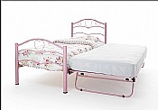 Yasmin 3ft Guest Bed (Pink Gloss) - Serene Furnishings