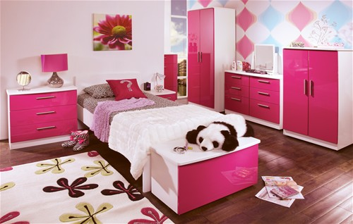 Pink And White Bedroom Furniture Sistem As Corpecol